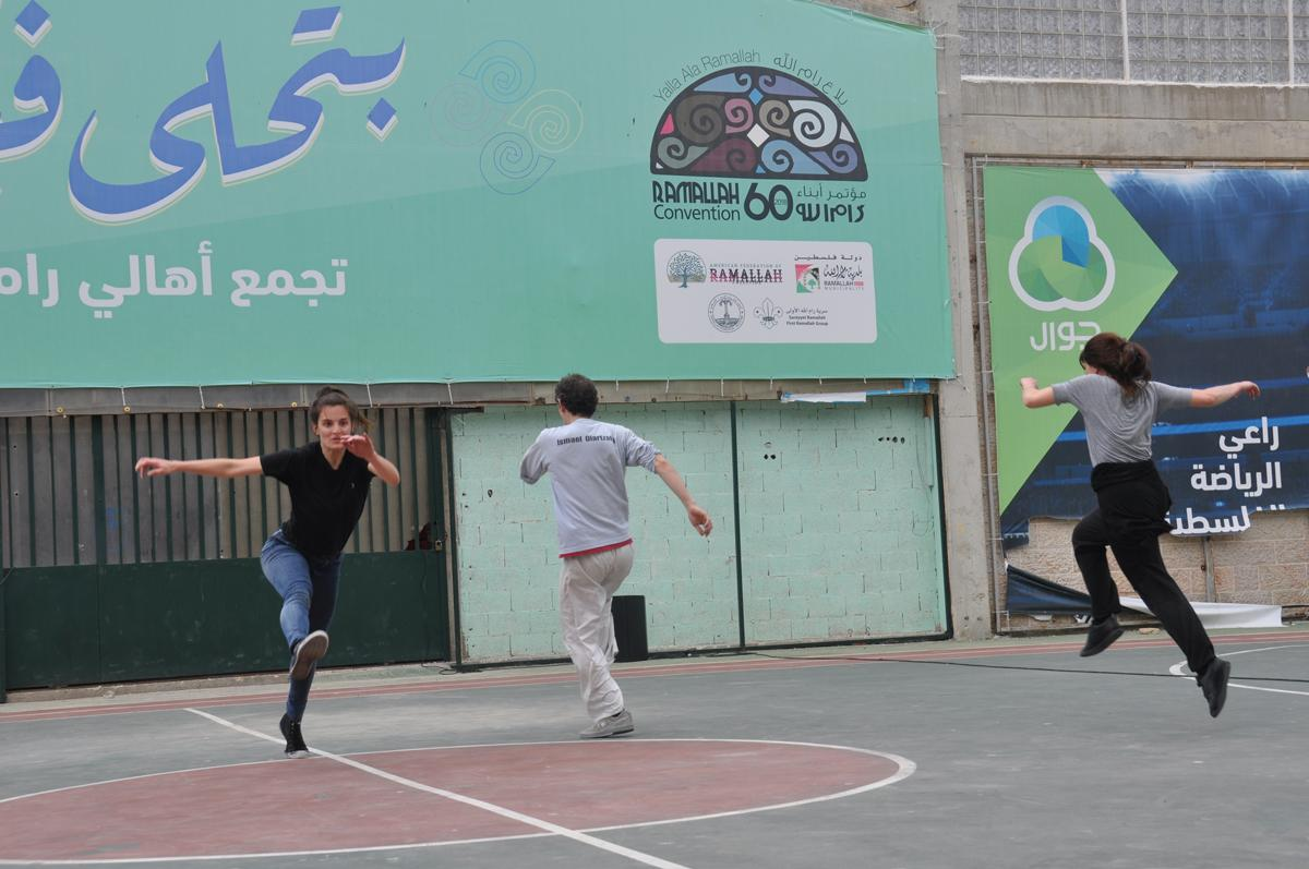 Take-air rehearsing in Ramallah